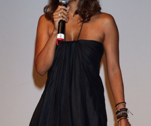 Actress Halle Berry addresses guests at the Opening Night Gala of the 12th Annual Black Film Festival at the WGA Theater on August 7, 2008 in Beverly Hills, California.