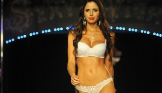 A model presents a creation by Colombia'