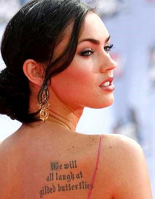 Ever wondered about megan fox s tatoos only hot chicas for Gilded heart tattoo